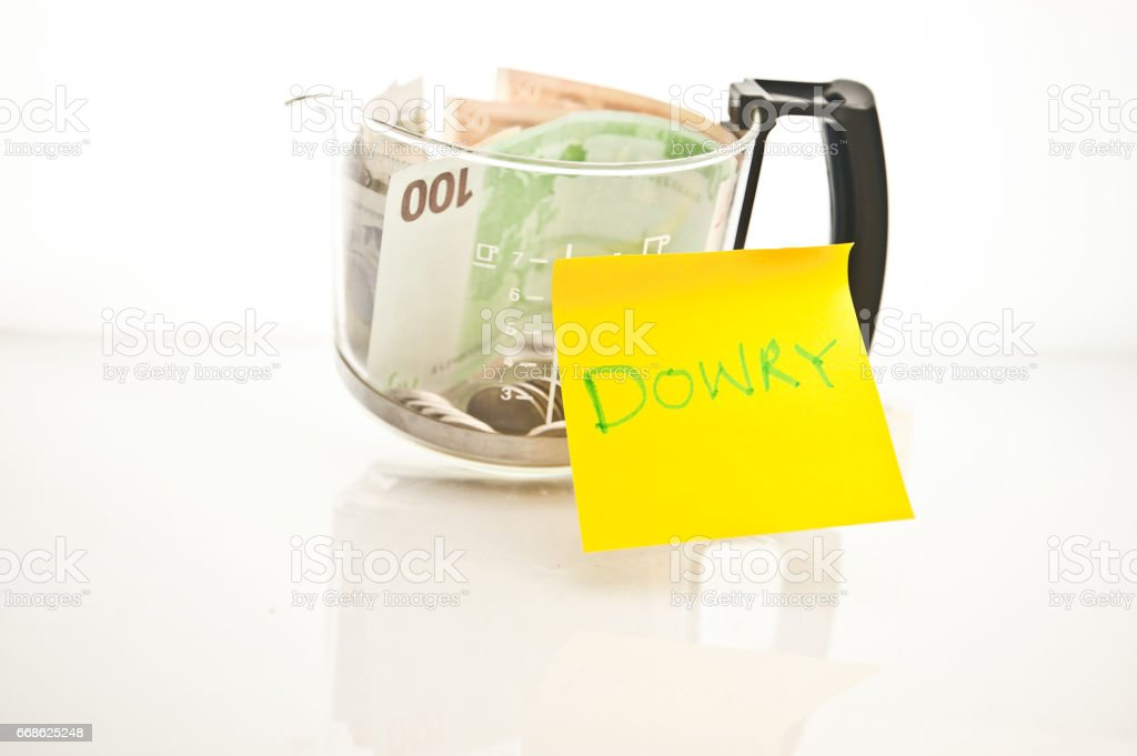 Financial Control - Bride Price Fund stock photo