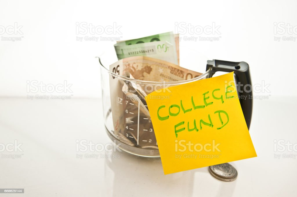Financial Control - College Fund stock photo