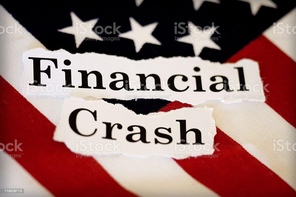 financial crash stock photo