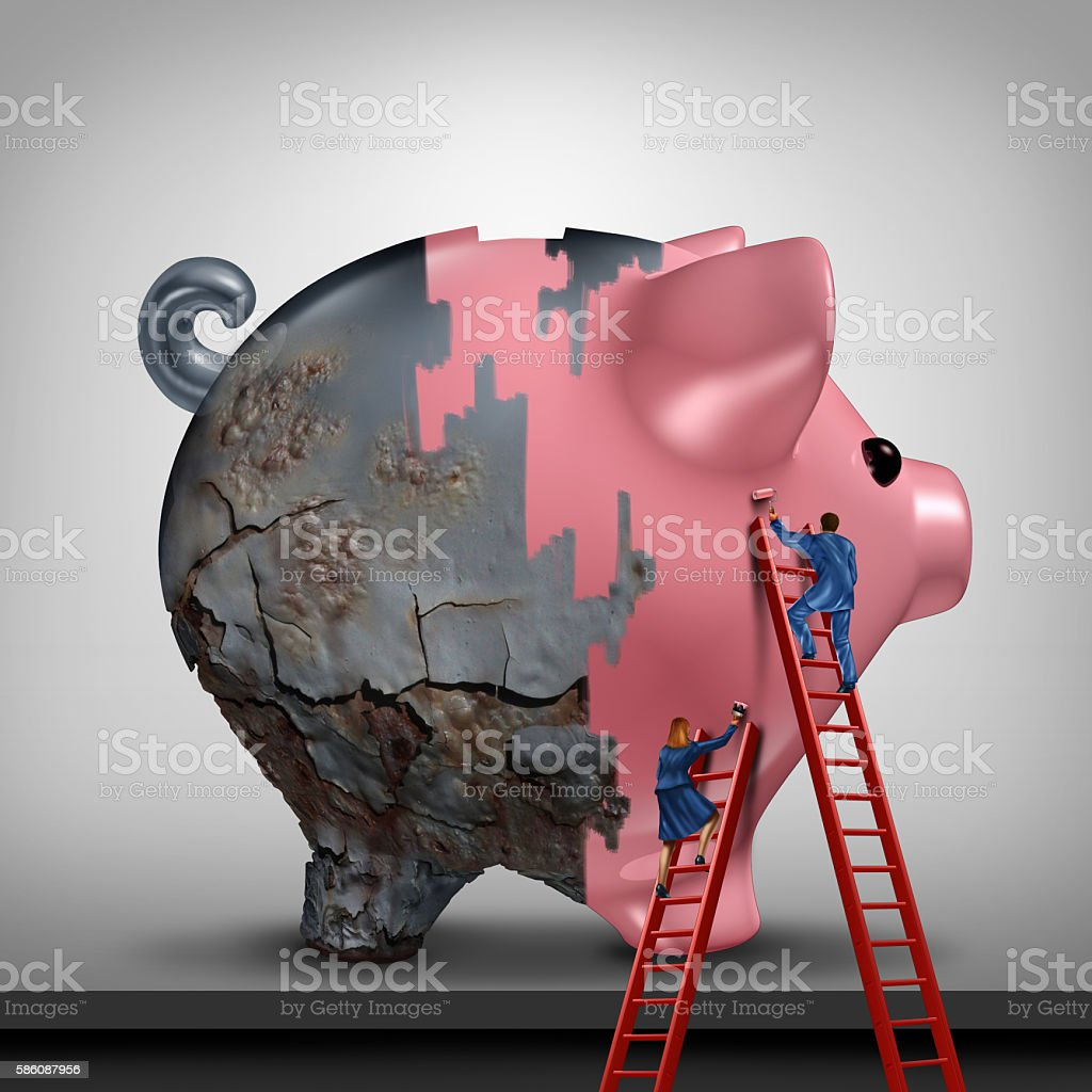 Financial Credit Recovery stock photo