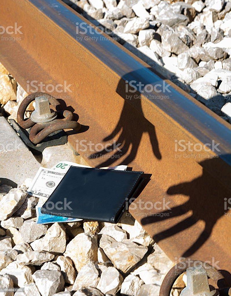 financial crime, theft, scam stock photo