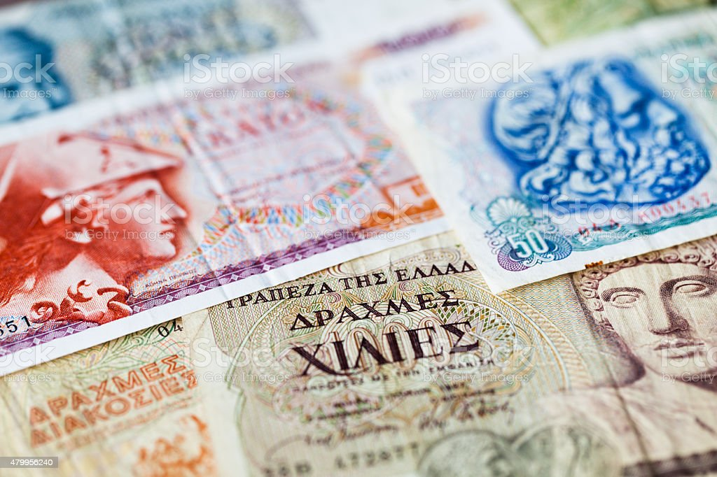 Financial crises in Greece. Drachma. stock photo