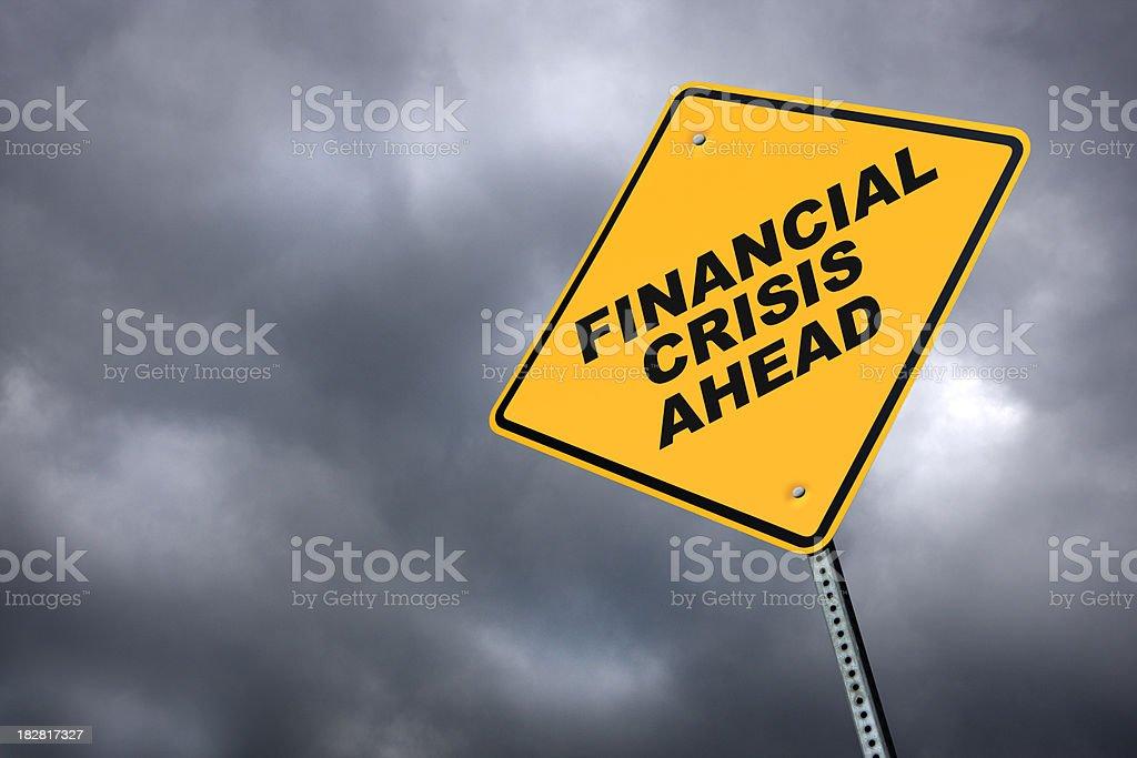 Financial Crisis Ahead stock photo