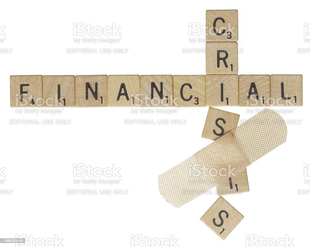 Financial crisis bandage stock photo