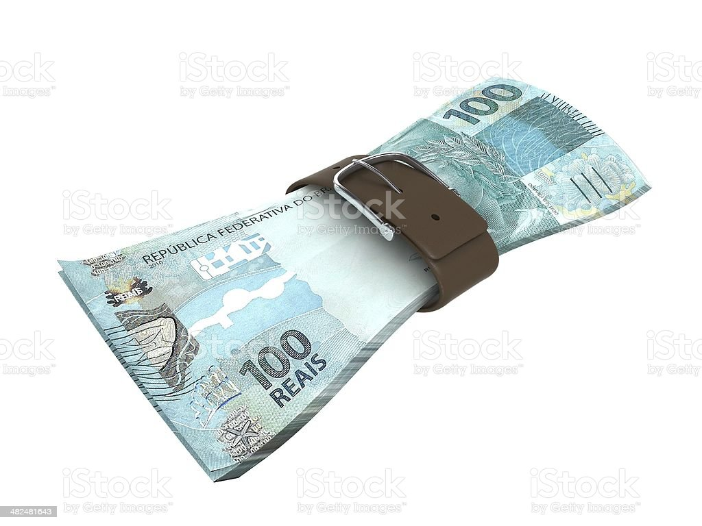 Financial Crisis - Brazilian Real stock photo