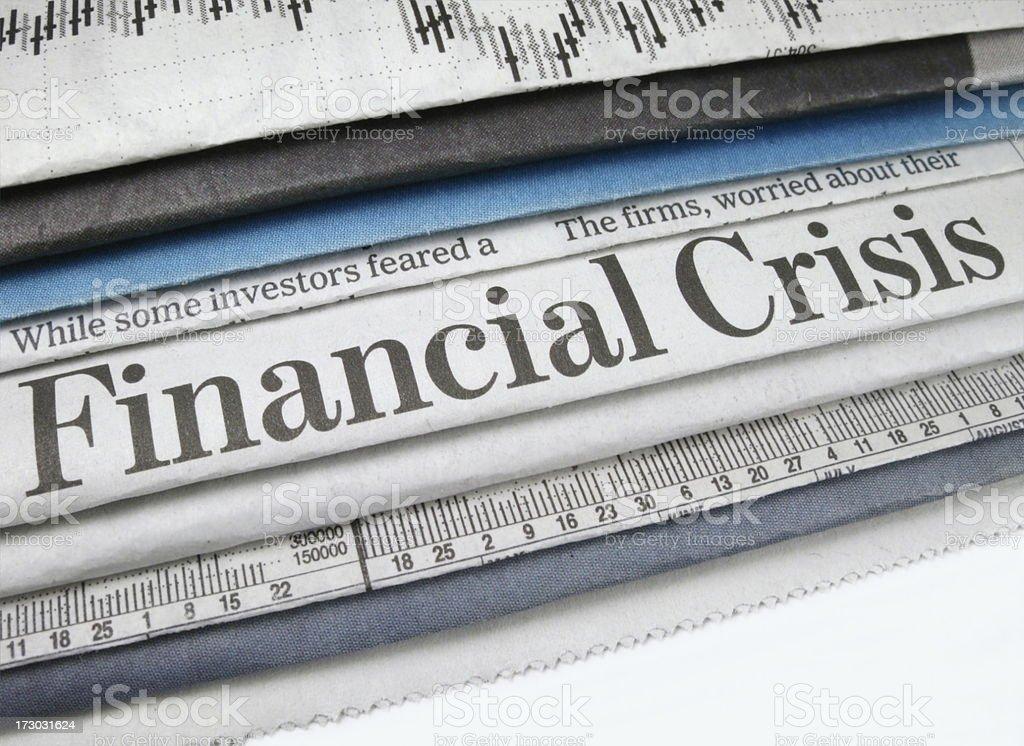 Financial Crisis Headline royalty-free stock photo