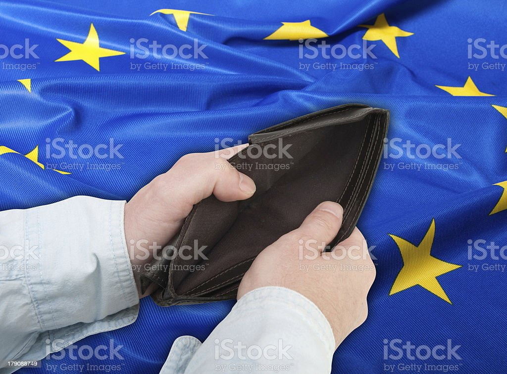 Financial Crisis in European Union royalty-free stock photo