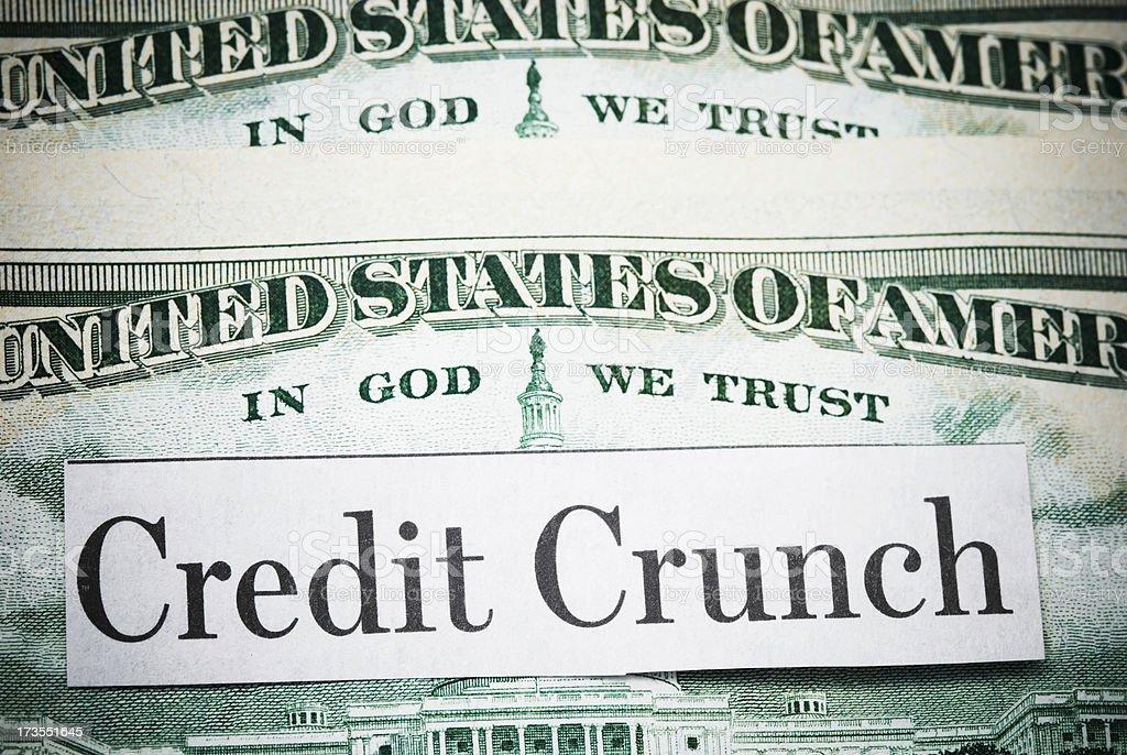 Financial crisis - IX stock photo