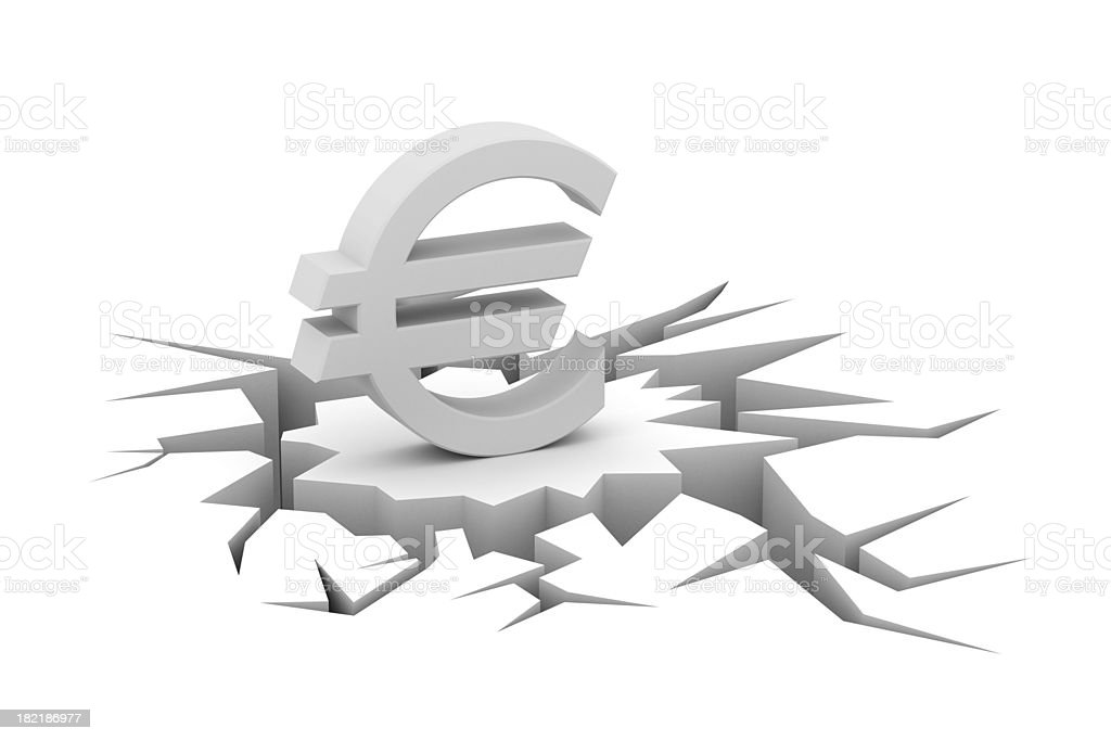financial crisis royalty-free stock photo
