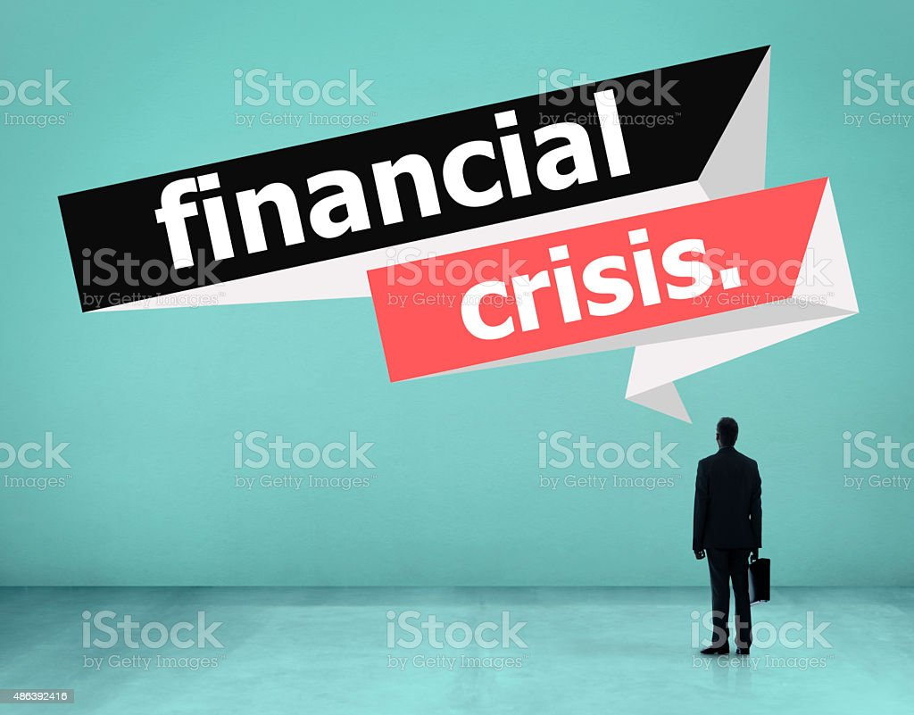 Financial Crisis Recession Economy Global Concept stock photo