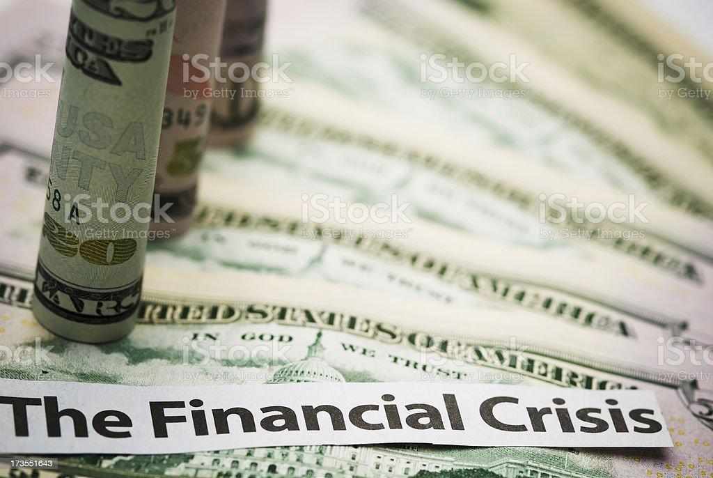Financial crisis - VII stock photo