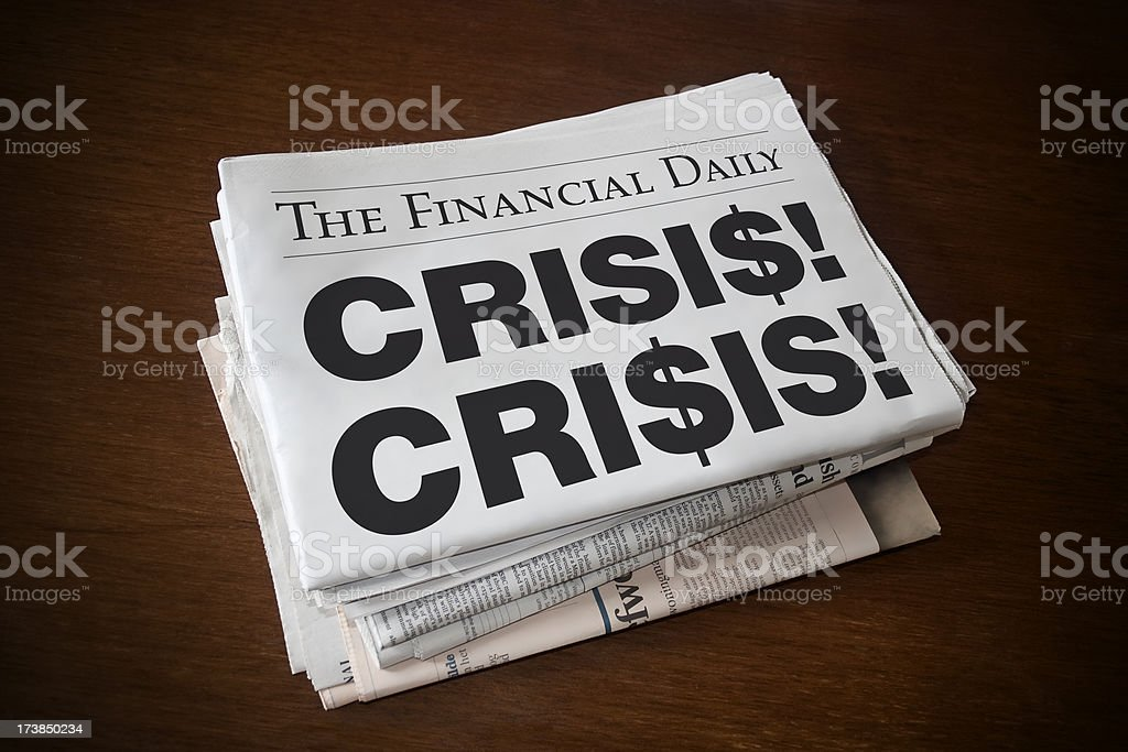 Financial daily: CRISIS! royalty-free stock photo