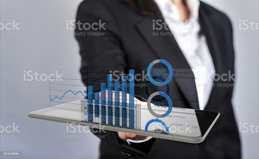Financial dashboard stock photo