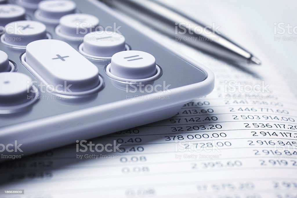 Financial Data Analysis royalty-free stock photo