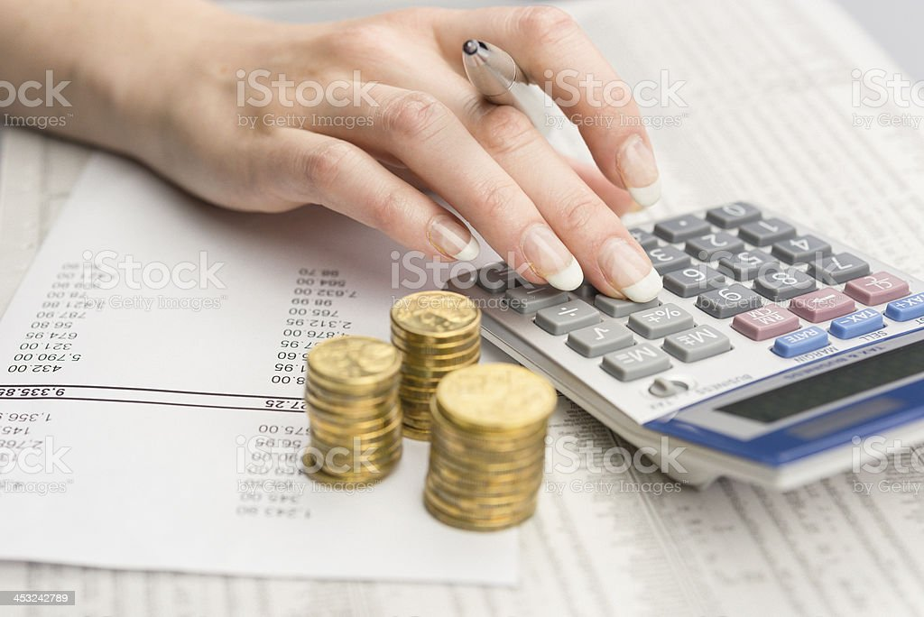 Financeira, análise de dados foto royalty-free