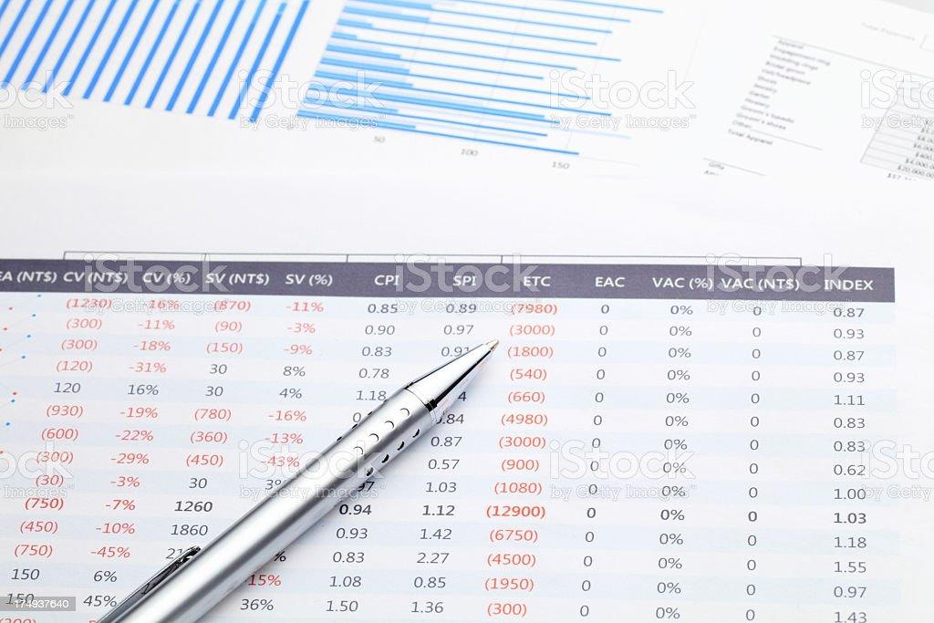 Financial Data Analysis With Pen stock photo 174937640 – Financial Data Analysis