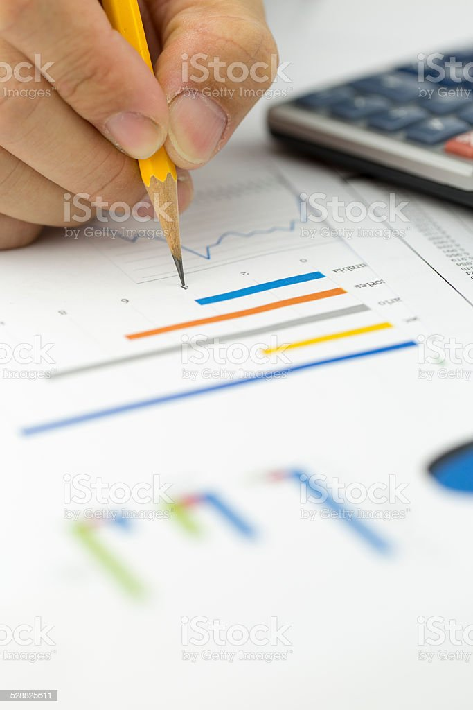 Financial data analyzing stock photo