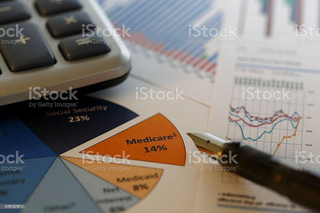 Financial data analyzing - Stock Image stock photo