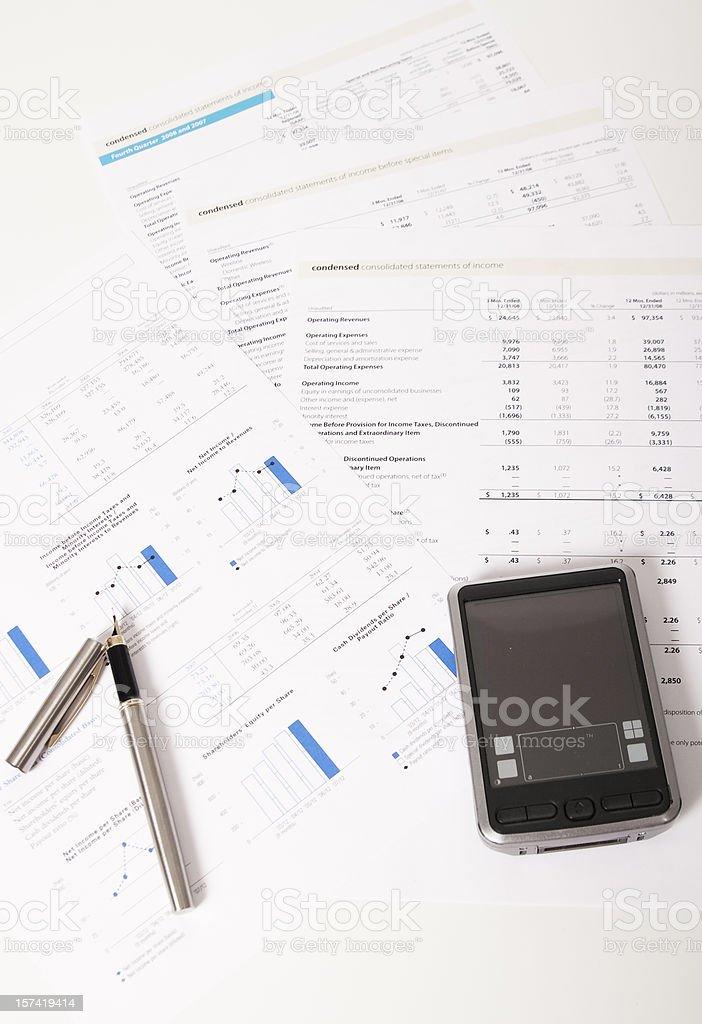 Financial data anlysis royalty-free stock photo