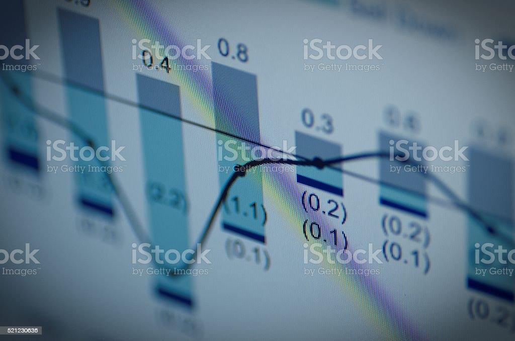 Financial data stock photo
