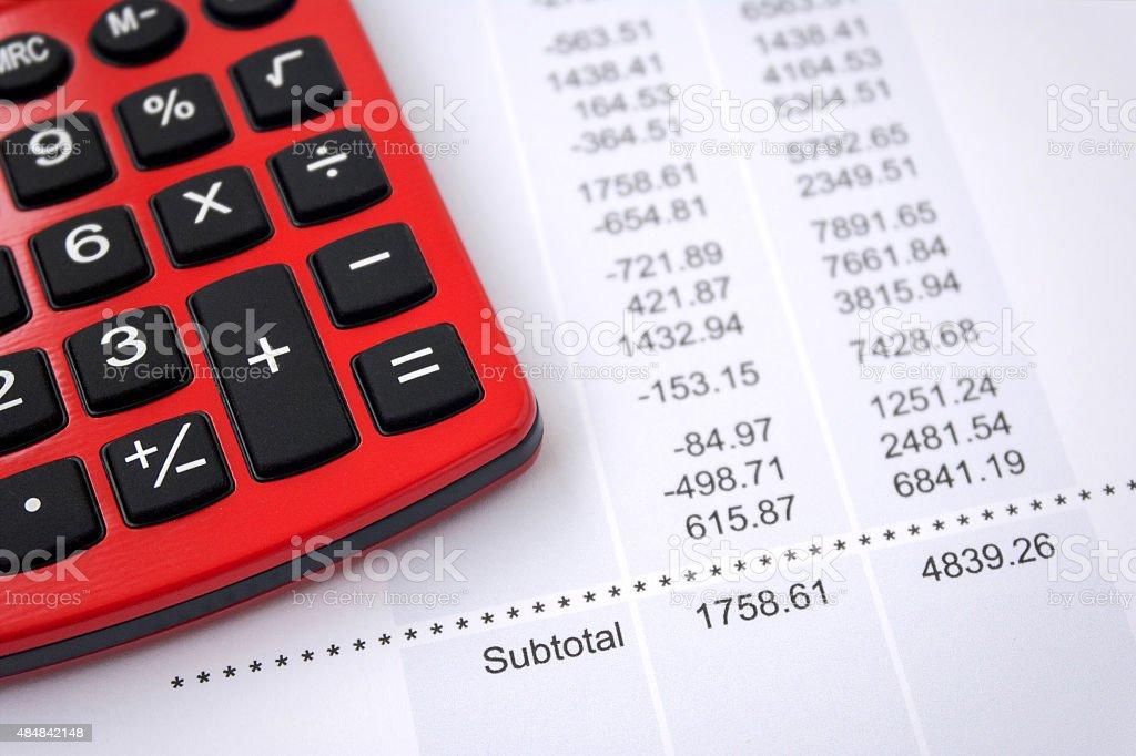 Financial Data Report stock photo