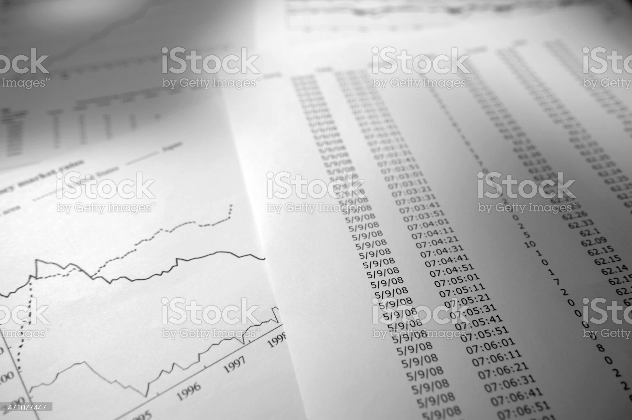 financial data series royalty-free stock photo