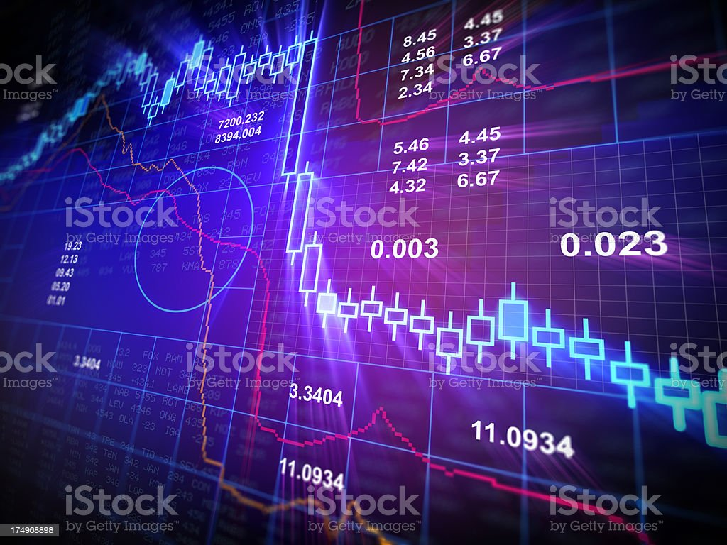 Financial Data - stockmarket chart stock photo