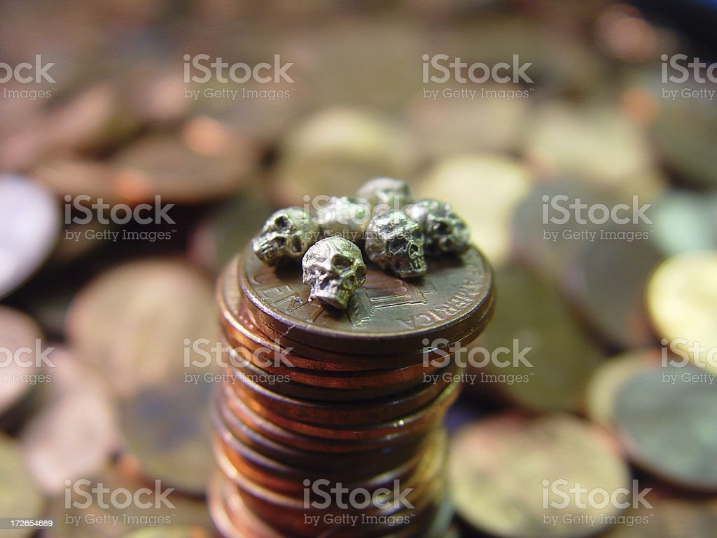 financial death royalty-free stock photo