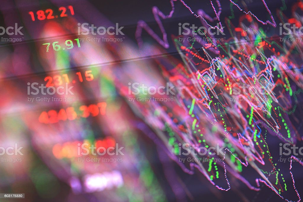 Financial Diagram. stock photo