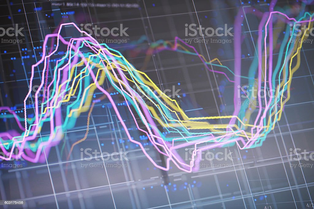 Financial Diagram. stock photo