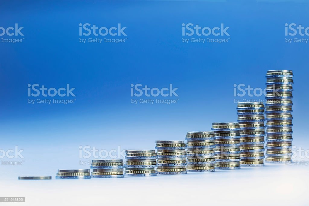 Financial diagram - the graph of economic growth. stock photo