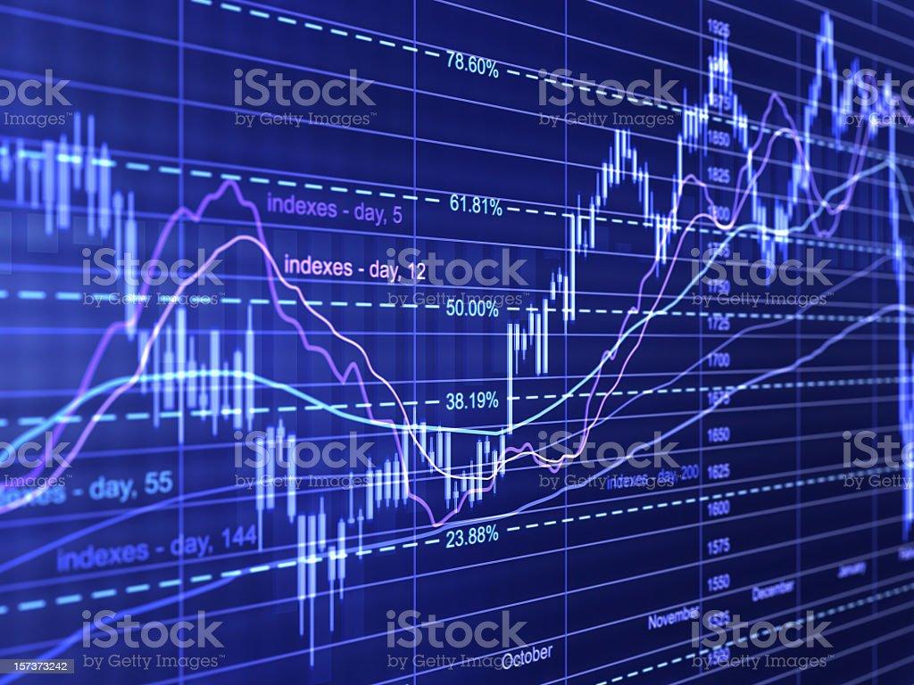 financial diagrams stock photo