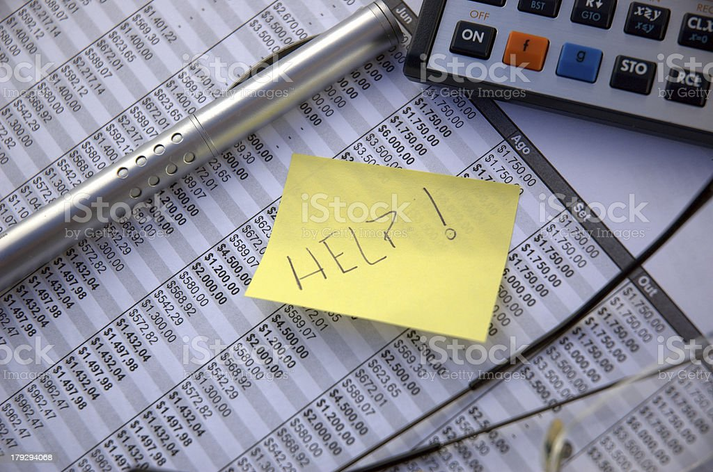 Financial difficulty stock photo