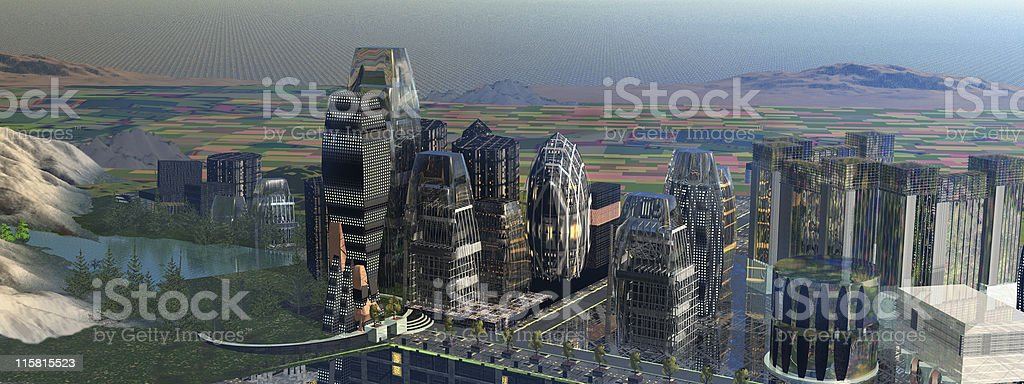 Financial District Aerial royalty-free stock photo