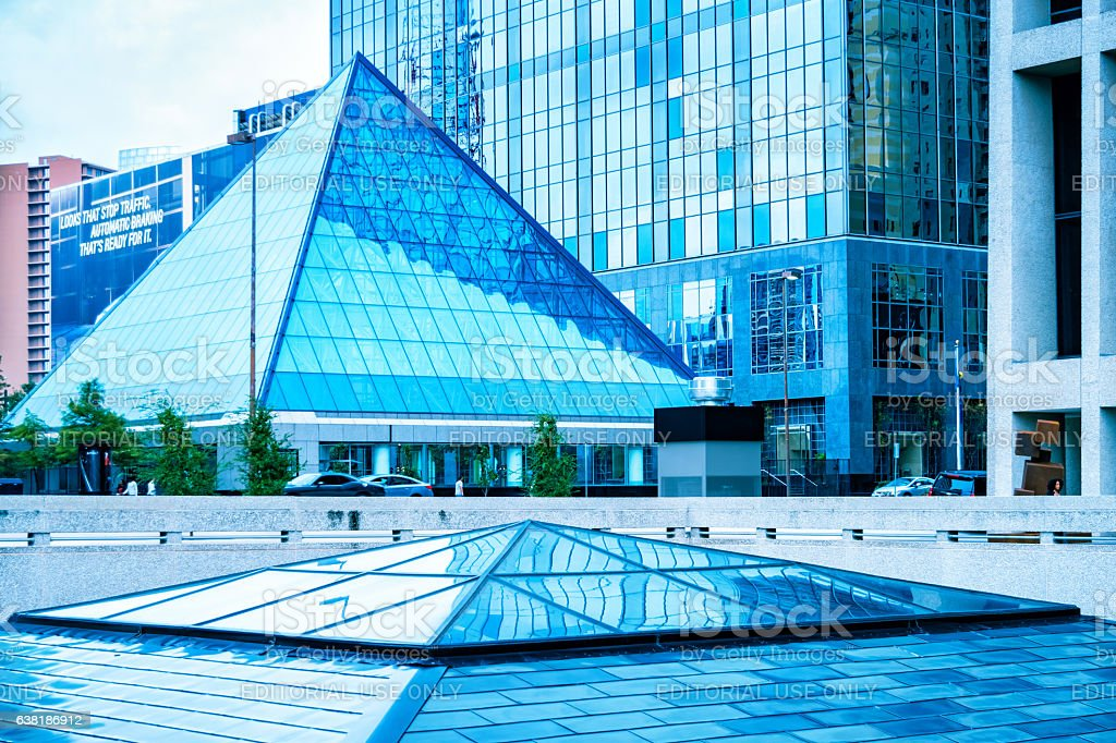 Financial District Architecture in Downtown Dallas Texas USA stock photo