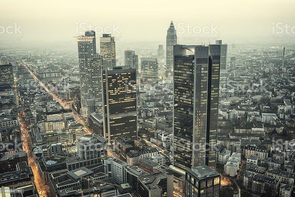 Financial District Bankenviertel Frankfurt Germany stock photo