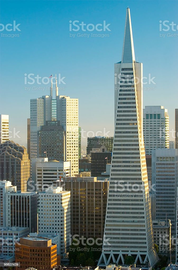 Financial District buildings in San Francisco stock photo