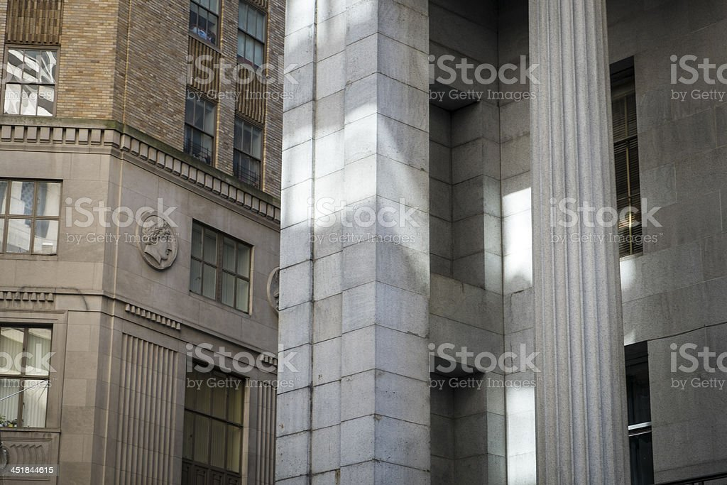 Financial District buildings, New York City royalty-free stock photo