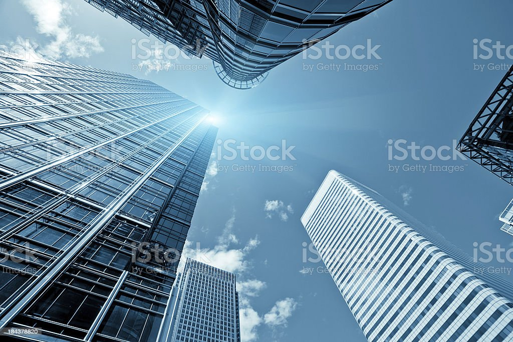 Financial District, Canary Wharf in London stock photo