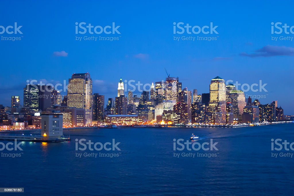 Financial District coast stock photo