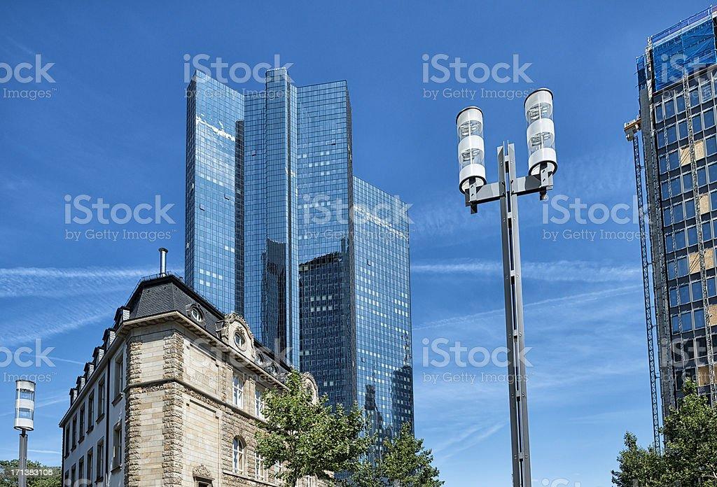 Financial District, Frankfurt, Germany. stock photo