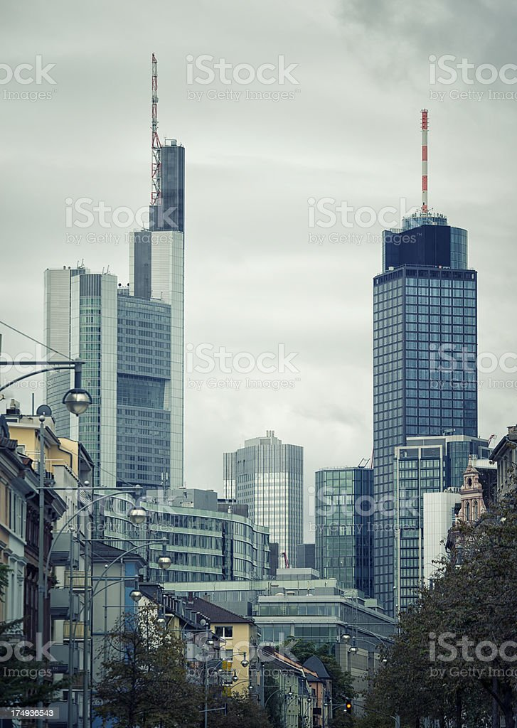 Financial District, Frankfurt, Germany stock photo