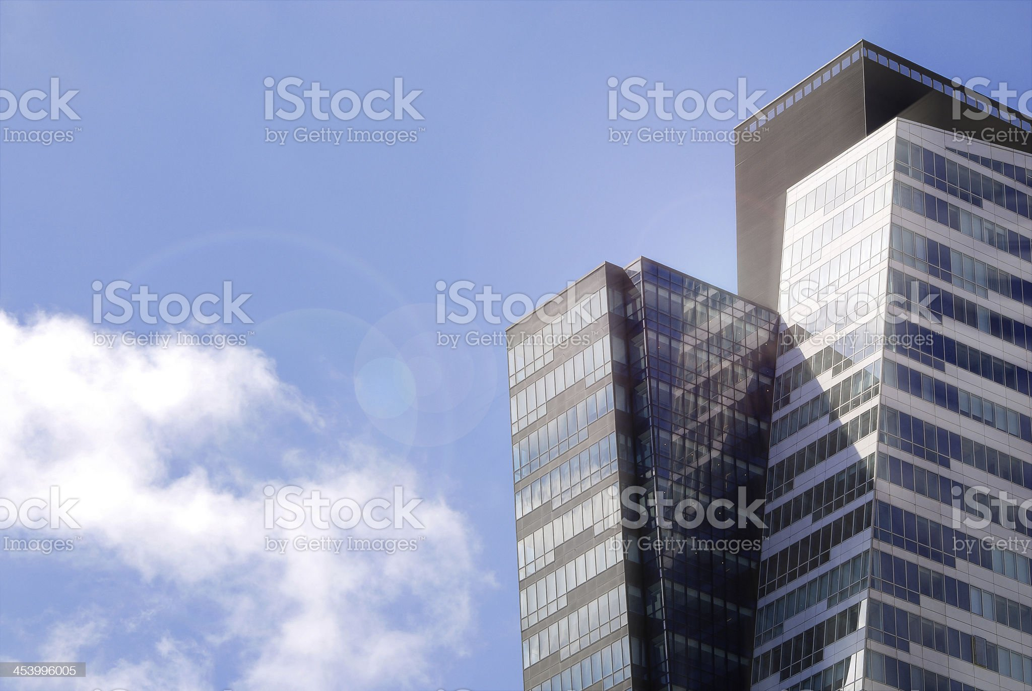 Financial District Glass Buildings, City of Istanbul royalty-free stock photo