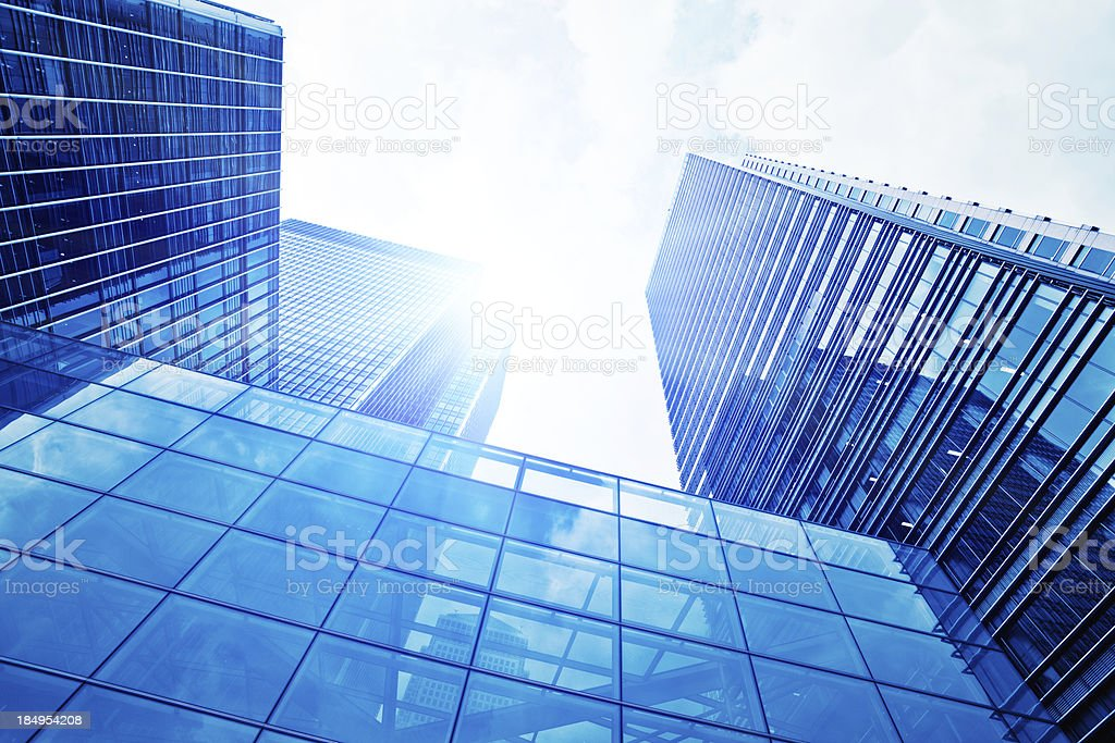 Financial District Glass Skyscraper, London royalty-free stock photo