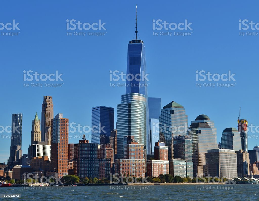 Financial District in Downtown Manhattan stock photo