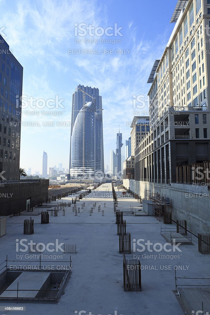 Financial district in Dubai, UAE royalty-free stock photo