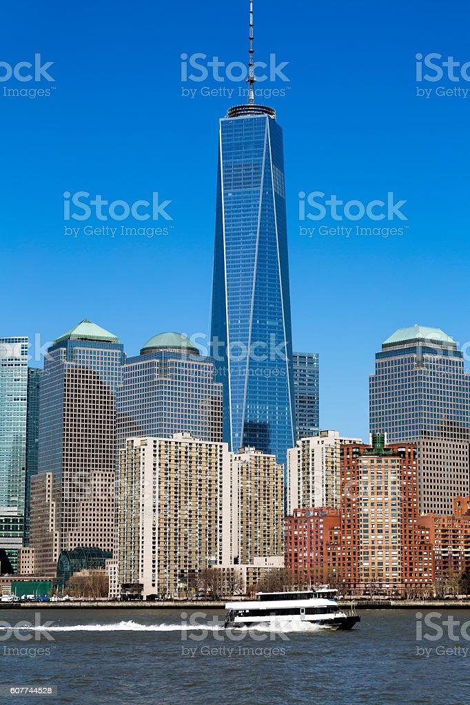 Financial District in Manhattan, New York stock photo