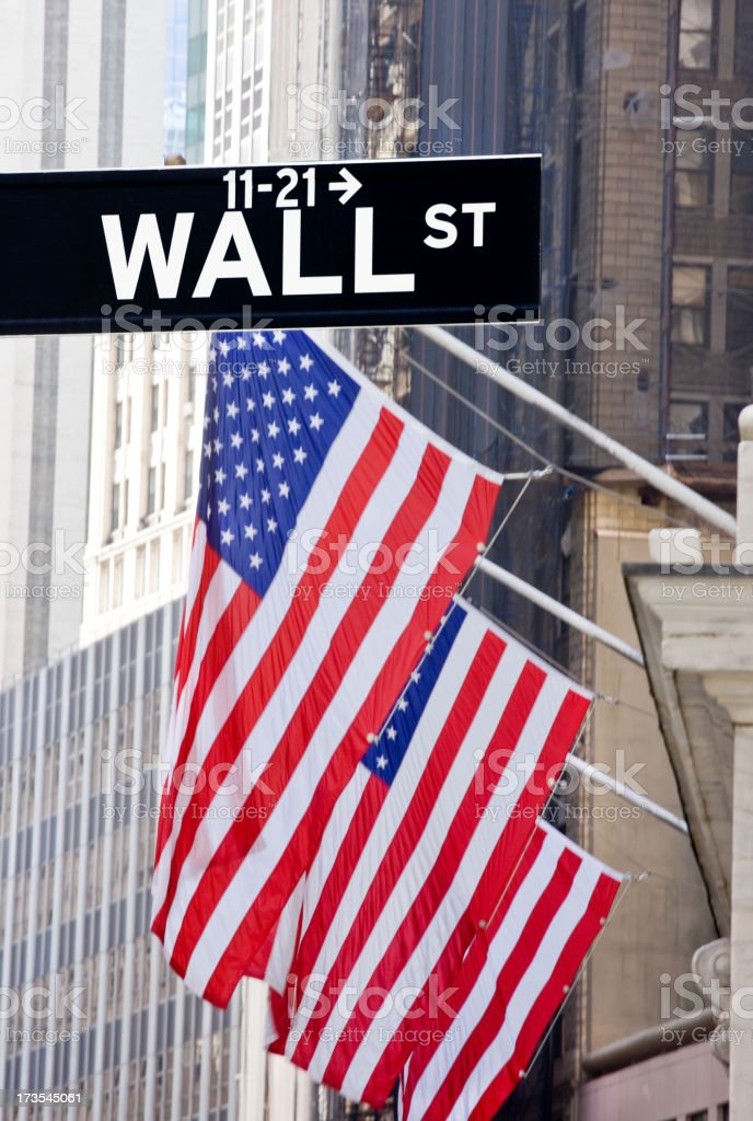 financial district in New York royalty-free stock photo