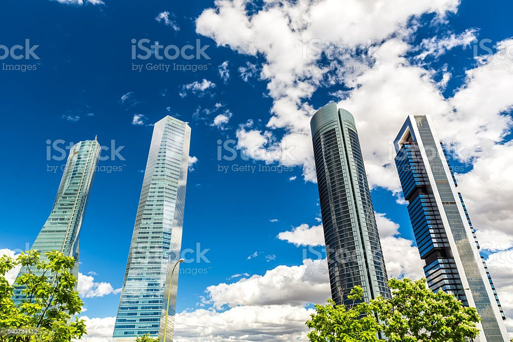 Financial District in Spain stock photo