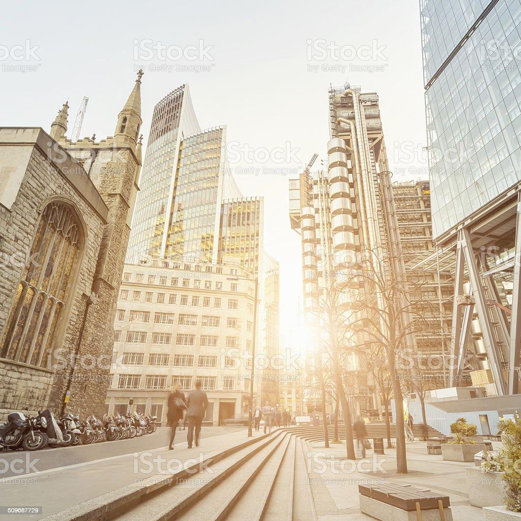 Financial district London stock photo